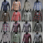 New Men's Fashion Casual Dress Shirts Button Plaids Luxury Slim Fit Multicolor
