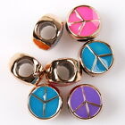 25/125pcs 152628 Hot Wholesale Colors Enamel Peace Charms Acrylic European Beads
