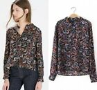 2015 New Fashion Europe Vintage totem butterfly Print Top Blouse Shirts