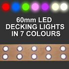 10 x 60mm LED Deck/Decking/Plinth/Kickboard/Recessed Kitchen/Garden Lights Kit