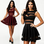 Sexy Women Sleeveless Bandage Ball Party Evening Cocktail Club Short Mini Dress