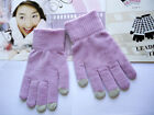 1 Pair Winter Magic Stretch Knit Glove Smartphone Texting Touch Screen One Size