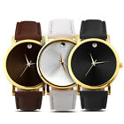 Hot Sale Women Men Classic Unisex Geneva Leatheroid Analog Quartz Wrist Watches