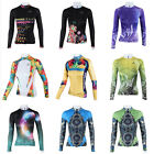 New Women Cycling Jersey Long Sleeve Bike Bicycle Clothing Sports Wear Top S-3XL