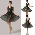 Mini Sequins Short cocktail Homecoming Evening prom Ball Gown bridesmaid dresses