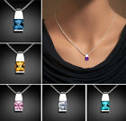 Newest 18K White Gold Filled CZ Birthstone Crystal Choker Necklace Jewelry Women