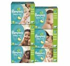 Pampers Baby Dry Diapers Size 0 1 2 3 4 5 6 PICK ANY SIZE |NO SALES TAX|
