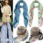 Bird Scarf Flower Print Women Winter Voile Wrap Shawl Stole Pashmina Neck Stole