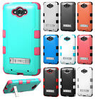 For Motorola Droid Turbo Rubber IMPACT TUFF Hybrid KICKSTAND Phone Case Cover