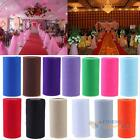 "6""x25yd Colorful Tulle Paper Roll Spool Craft Wedding Birthday Party Decor #F8s"