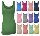 EX PRIMARK ATMOSPHERE LADIES COTTON RIBBED VEST TOP-UK SIZES 6-20