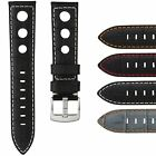 Rally Watch Strap Alligator Grain Genuine Leather Coloured Lining 20, 22 & 24mm