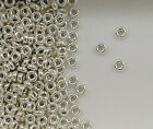 Sterling Silver Beads, 3mm Plain Flat Design, New