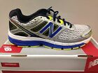 Men's New Balance M860SB4 - White / Silver / Blue / Neon