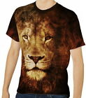Lion Men's Clothing T-Shirts S M L XL 2XL 3XL