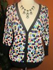LANE BRYANT NWT 100% cotton $60 multi colored dots cardigan women's sweater