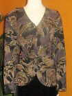 PATRA  NWT women's shirt jacket evening black and gold glitter $109 party