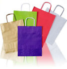 Coloured Party, Gift, Clothes, Kraft Twisted Paper Handle Carrier Bags
