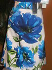 LANE BRYANT NWT $50 white royal blue floral tropical print women's skirt