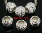 Fashion Silver Plate Carved Stardust Aluminum Beads Fit European Bracelet BE11-6