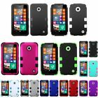 For NOKIA Lumia 630 635 Silicone Rubber TUFF HYBRID Armor Hard Case Phone Cover
