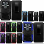 Hybrid Armor Impact Heavy Duty Hard Case Cover Belt Clip Holster Stand For LG G3