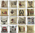 Woven Tapestry Fabric Designer Cushion Cover With Rope Piping And Velvet Back