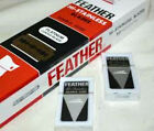 FEATHER HI-STAINLESS PLATINUM DOUBLED EDGE RAZOR BLADES DE RED BOX  5 PER PACK