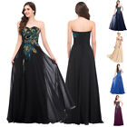 UK NEW Long Bridesmaid Dress Wedding Party Formal Ball Gown Evening Prom Dresses