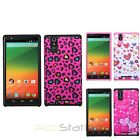 For ZTE Zmax Hybrid Advanced Armor Dual Layer Hard Soft Case Cover Skin