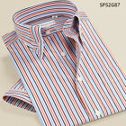 NEW stripes style for summer short sleeve men's casual dress cotton shirt