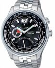 Citizen Eco-Drive Sapphire Japan Retro Dual Time Watch BR0010-56E BR0015-52E