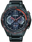 Citizen Eco-Drive 100m Black & Orange Multi-Dial Chronograph Watch CA4125-56E