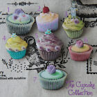 Lovely Sweets Cupcakes Kitsch Brooch Pin Wooden Handmade Art Choose one!