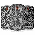 HEAD CASE DESIGNS BLACK LACE HARD BACK CASE FOR HTC DESIRE 500