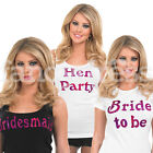 Pink Iron On Transfer Hen Party Hen Night Gift Present Shirt Print Bride to Be