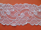"NEW~ Beautiful WHITE Stretch Scalloped Lace 3.5""/9 cm Lingerie/Trim"