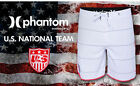 New HURLEY PHANTOM USA Soccer Team National white stripe swim board shorts