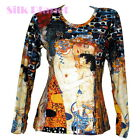 GUSTAV KLIMT 3 AGE WOMAN MOTHER CHILD LS T SHIRT NOUVEAU FINE ART PRINT *