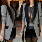 Professional Office Suit Womens Fashion One Button Coat Jacket Blazer Outwear