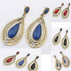 Vintage Women  Charm Jewelry Long Hook Crystal Ear Stud Drop Dangle Earrings