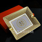 High-end Mosaic Circle H Pattern Quality Ceramic Bone China Cigar Ashtray