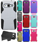For Samsung Galaxy Core Prime MESH Hybrid Silicone Rubber Skin Case Phone Cover