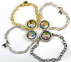 Magnetic Crystal Infinity Living Memory Locket Bracelet Chain Fit Floating Charm