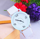 New - Luxury Stylish Geneva Black White Leather Analog Quartz Women Wrist Watch