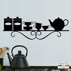 Cups Plates Design Kitchen Wall Art Stickers Decals Vinyl Decor Room Mural Quote