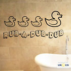 Rub A Dub Dub Bathroom Wall Art Stickers Decals Vinyl Decor Mural Quote Room