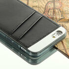 For iPhone 6 4.7 Ultra Slim Thin Wallet Credit Card Pocket Case Cover Skin Black