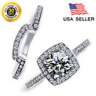 Double silver Rings ( 925 stering silver ) Wedding/Engagement 100% satisfaction