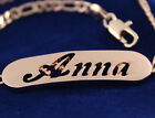 """Bracelet With Name """"ANNA""""- 18K Gold Plated   Silver Plated   Personalised Gift"""